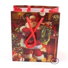 Santa Tree Logo Printed Paper Bag,Shopping Bag Promotional Paper Bag