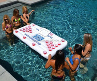 Giant Pong Pool Party Floating Beer Pong Table With Social Floating