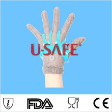U SAFE Chainmail Spring Glove/Full Metal Structure/Butchers Glove