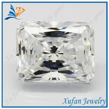 hight quality white cubic zirconia rectangle shape radiant cut gemstone cz