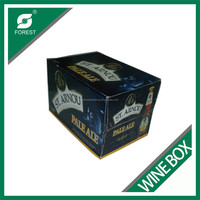 CUSTOM PRINTING 12 PACK BOTTLES BEER CARTON BOXES CORRUGATED WINE PACKAGING BOX FOR SALE