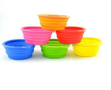 Hot Sale Silicone Folding Pet Bowl/Easy to Carry Pet Dog Bowl/ Outdoor and Home Use Silicone Folding Pet Bowl