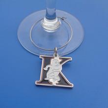 wine glass charm marker tags, drink marker charm(box-metal jewery tags -121b)