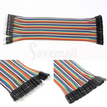 Practical 40pcs Wire Cable 2.54mm 20cm For Arduin o Breadboard Male to Female