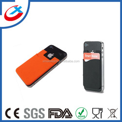 Smart wallet Silicone cell phone credit card holder/pouch i wallet/phone card holder