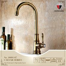 Gold plated gooseneck kitchen faucet antique copper
