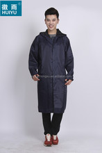 polyester durable men women OEM long poncho factory raincoat raingear rain wear