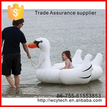 Factory direct selling Swimline Swimming Pool Kids Giant Rideable floating Swan Inflatable swan