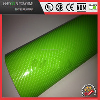 Cheap Wholesales 4d Green Carbon Fiber Vinyl 1.52*30M Air Bubble Free Car Vinyl Wrap