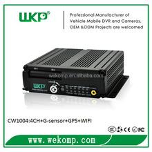 Wekomp 4ch sd card bloqueado wifi gprs h 264 dvr móvil dvr