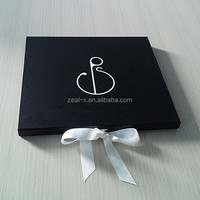 Luxury Printing Gift Folding Box With Ribbon Decorate Logo Personalized For Paper Work & Small Samples Packing