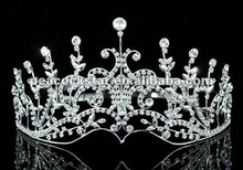 Wholesale Bridal Sparkling Pageant Crystal Tall Tiara CT1579