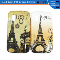 Classic Beauty Water Transfer Printing Case And Diamond PC Back Cover Case For LG Nexus4 E960
