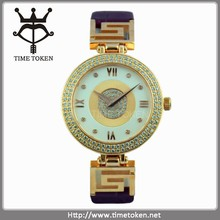 Hot new products 2015 fashion lady watch with diamonds sw stainless steel rose gold plating