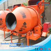 JZC750 tipping bucket concrete mixer and pump