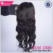 Wholesale 100% brazilian hujan hair Hand Made full lace wig