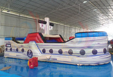 2015 3D small inflatable kids pirate ship for sale