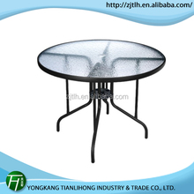Best quality new design folding round glass table