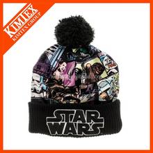 star wars logo beanie knit ski hat