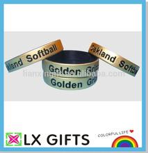 rociado de oro pulseras de silicona