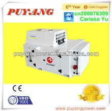High performance underslung generator for flat car