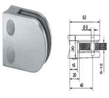 Glass mounting clamp,stainless steel handrail glass clamp used in door,glass railing clamp d clamp