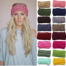 Womens Crochet Headband Knit Hairband Flower Winter Lady Ear Warmer Headwrap