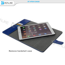 Removable card holder for ipad air 2 leather case, replacement back cover for ipad