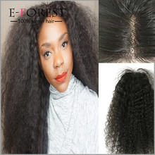 Factory Price 6A Mongolian Afro Kinky Curly Hair Lace Closure Free/Middle/Three 3 Part Available Virgin Human Hair Closure