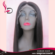 top quality 1B color Kinky yaki Straight raw unprocessed straight high quality remy hair free wig catalogs full lace wig