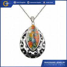 Erp0098 moda de acero inoxidable de murano de la joyería de piedra, Acero inoxidable cristal de murano colgante estrellas de mar