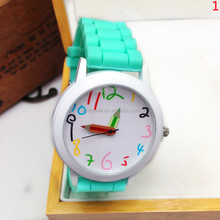 Cheap Watch silicone lady wrist watch girls womans quartz watches big number