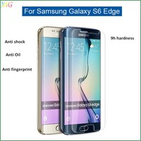 Trade assurance!!anti-radiation 0.26mm 9H tampered glass screen protector for samsung galaxy s6 edge