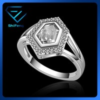 Gold Filled Fashionable Perfect Layer Clear Zircon Jewelry Ring