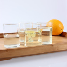 China manufacturer small clear borosilicate pitcher set 100ml square glass teapot cup