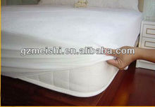 100% terry cotton waterproof mattress protector/mattress cover/mattress pad for hotel /home