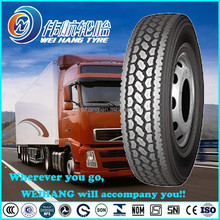 285/75R24.5 Tubeless all steel radial truck tyre with high wear ability and low HBU base tread formula