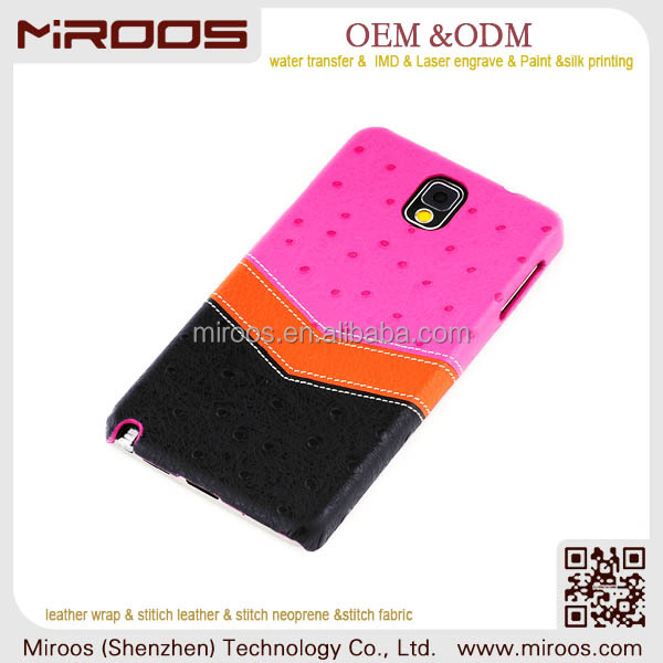 MIROOS high quality custom luxury genuine leather phone case for samsung galaxy s5 i9600