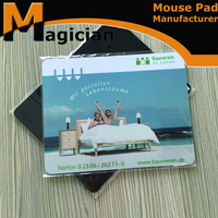 Eco-friendly EVA PVC transparent promotion mouse pad