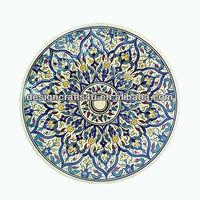 Persian Art Decoration Ceramic Islamic Plate