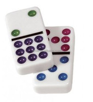 colored dot double 9 domino tiles