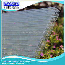 Alibaba China supplier pc four wall hollow sheet,plastic transparent polycarbonate roofing price