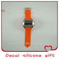 2013 High quanlity personalized custom silicone rubber watch band