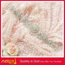 Wedding Dress Sash Belt/Headband Jewelry/bridal embroidery patch velvety beautiful fancy hot sale wedding swings manufacturer