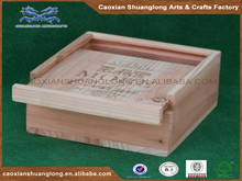 unfinished wood boxes with sliding lid,wood fruit boxes with sliding lid