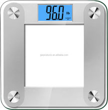 Large LCD High Accuracy Digital Bathroom Scale with Step On and Memory Technology, OEM Welcome
