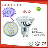 Widely used for indoor lighting big beam angle 3w 220-240v led gu10 light