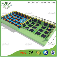 foam pit and dodgeball trampoline park with safety net for sale