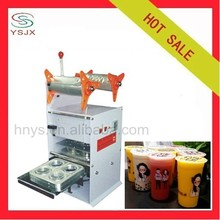 Semi automatic 4 output plastic film cup sealer
