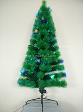 Fashion Pine Needle Optic Fiber Potted Artificial Christmas Tree Best Selling Xmas Tree